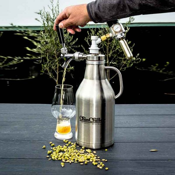 2L Growler - Complete with Pouring Set